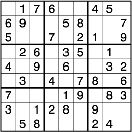 Dell Magazine社『crossword puzzles』 1985年5月号に掲載されたNumber Place