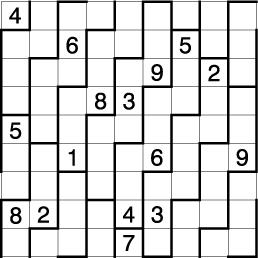 決勝ラウンドの準決勝で4人のうち西尾を含む3人が数字を1個しか入れられなかった辺が上下・左右に連続しておりブロック内にも1~9が入る「トロイダル・ナンプレ」